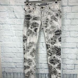 Rock & Republic Glitter Tie Dye Straight Leg Jeans